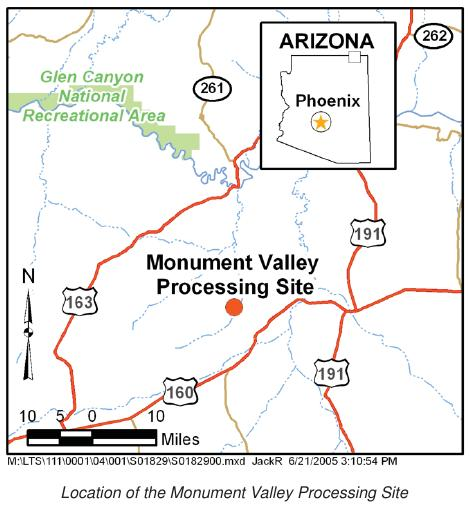 Map Of Arizona Monument Valley.Eeoicpa Covered Facilities Uranium Mill In Monument Valley